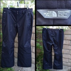 XL Women NORTHFACE Hyvent black snow pants